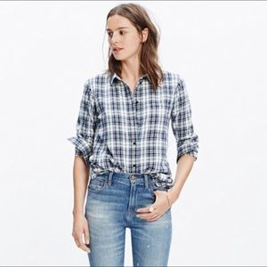 Madewell Plaid Button Down Shirt